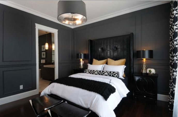 Charcoal Painted Rooms A While Grey Is Certainly Acceptable I Do My Dream Home In 2018 Bedroom Black