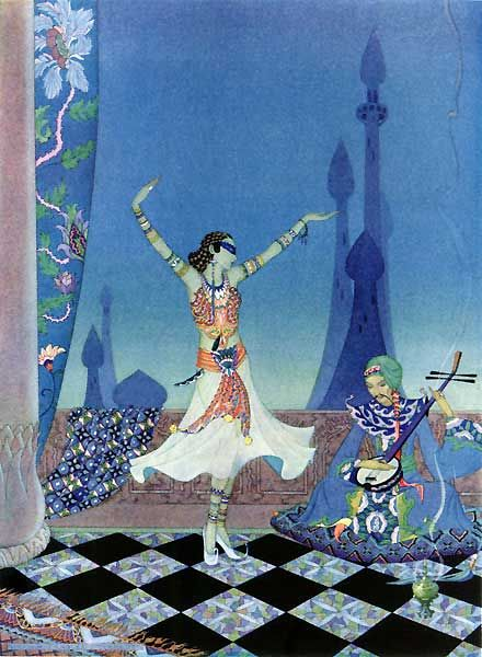 Ali Baba: Morgiana Danced with Much Grace - The Arabian Nights by Hildegarde Hawthorne, 1923-1928