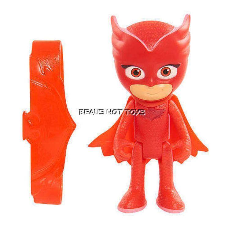 PJ Masks 3 inch Light Up Figure Toy - Owlette & Amulet Bracelet NEW #JustPlay