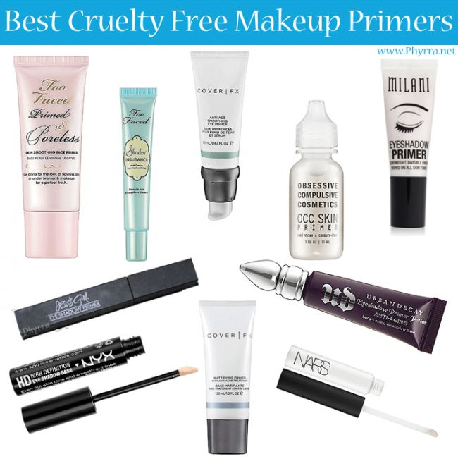 Best Cruelty Free Makeup Primers from @Phyrra include #CoverFX Smoothing Anti-Aging Eye Primer  Mattifying Primer