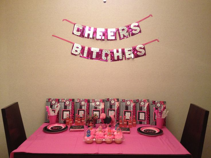 bachelorette party decor at hotel wedding shower ideas