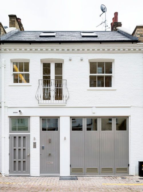 Elvaston Mews exterior. Front doors. Www.willowandstone.co.uk for door furniture inspiration.