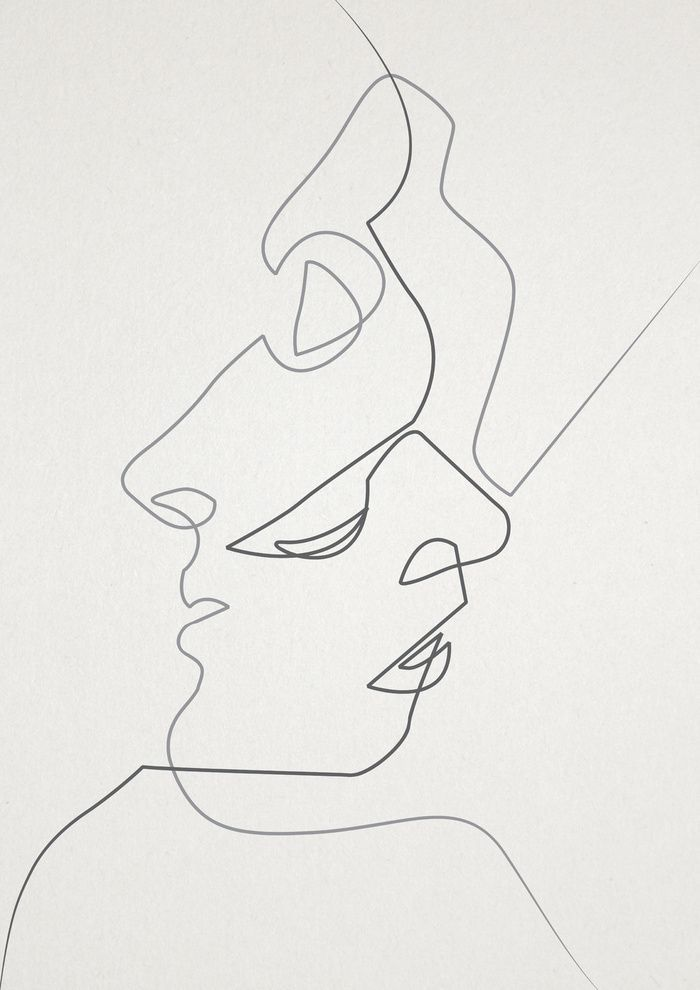 Contour Line Drawing People : Best graphic design illustration images on