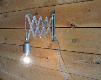 Accordion Swing Arm Bare Bulb Wall Light - Custom Colors