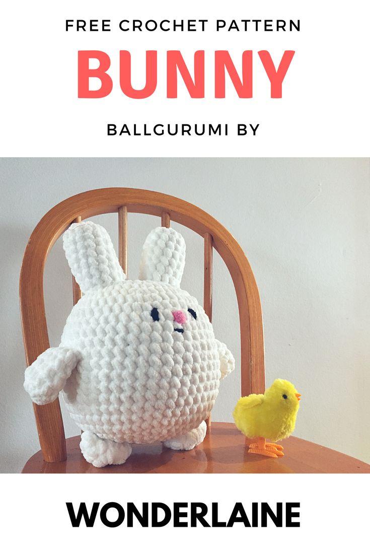 Padrão de coelho Ballgurumi grátis
