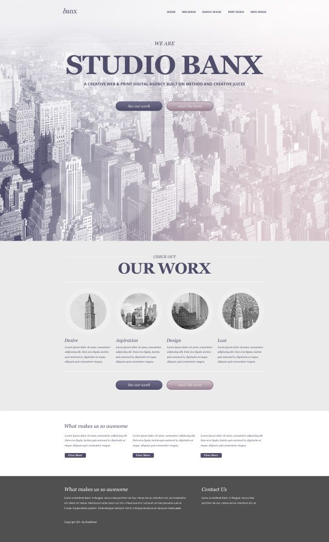 Web Design PSD - Banx
