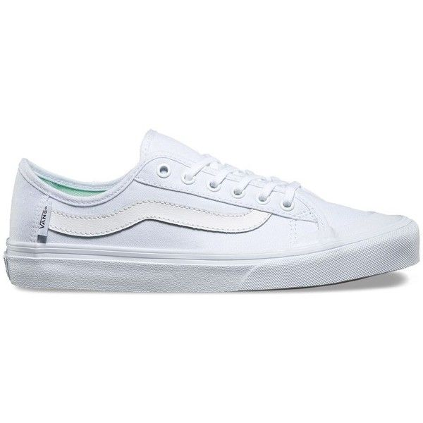 Vans Womens Black Ball SF ($57) ❤ liked on Polyvore featuring shoes, white, black cap toe shoes, white shoes, white leather shoes, ball shoes and black shoes