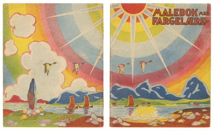 Vintage illustrations from the book Norske Malebøker