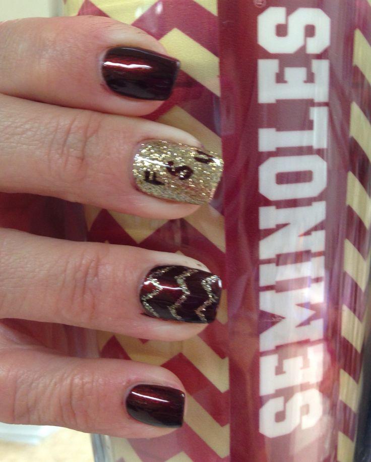 FSU nails by Cindi Rogers