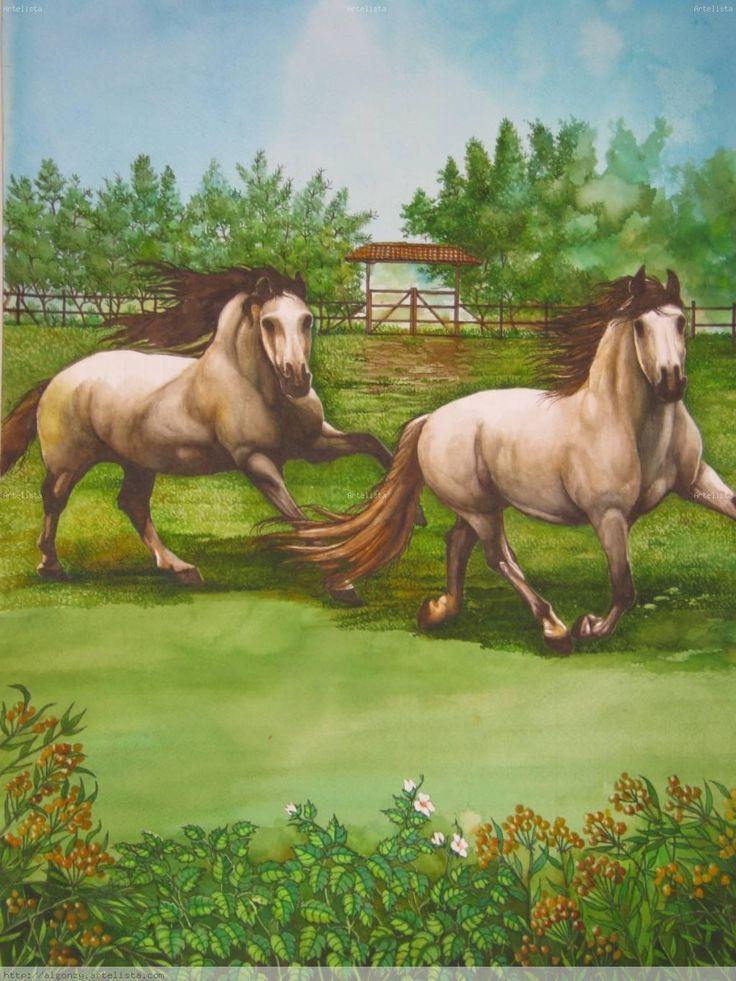 triptico de caballos -parte central (2)