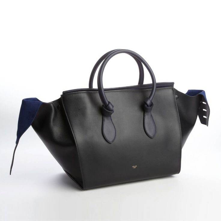 CELINE Navy And Black Leather \u0026#39;Knot\u0026#39; Bag | Carry Away | Pinterest ...