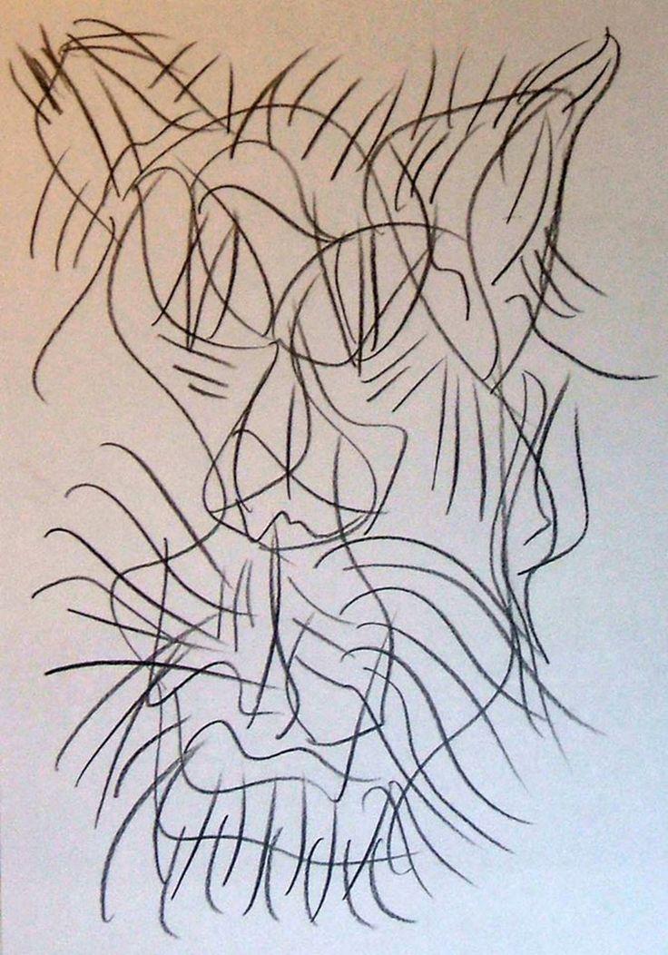"""Felino""  (Maschera) 2013 Carboncino su carta 29,5x21 ©Pietro Gargano"