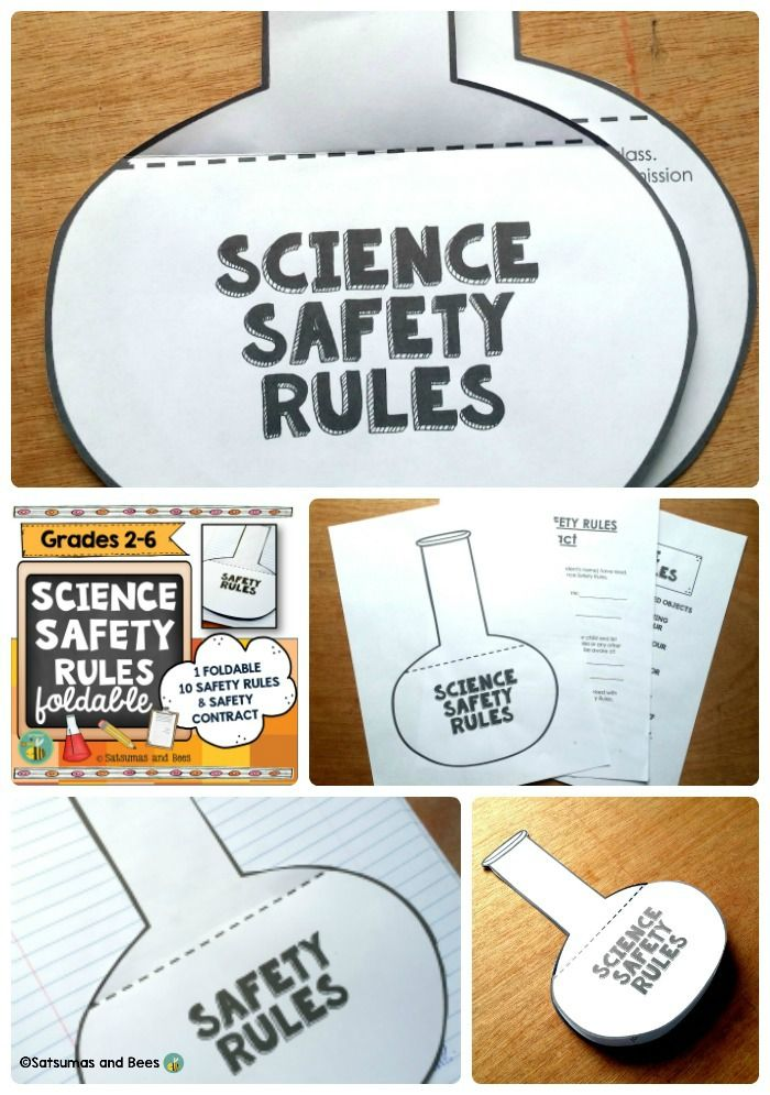 A fun foldable to go over science safety rules that can be added to any INTERACTIVE SCIENCE NOTEBOOK for grades 3-6. Safety rules contract for students/parents included (2 versions).