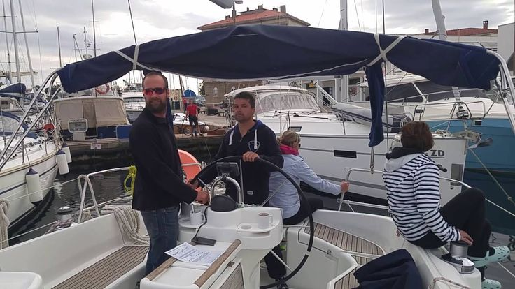 stern to port mooring in Zadar