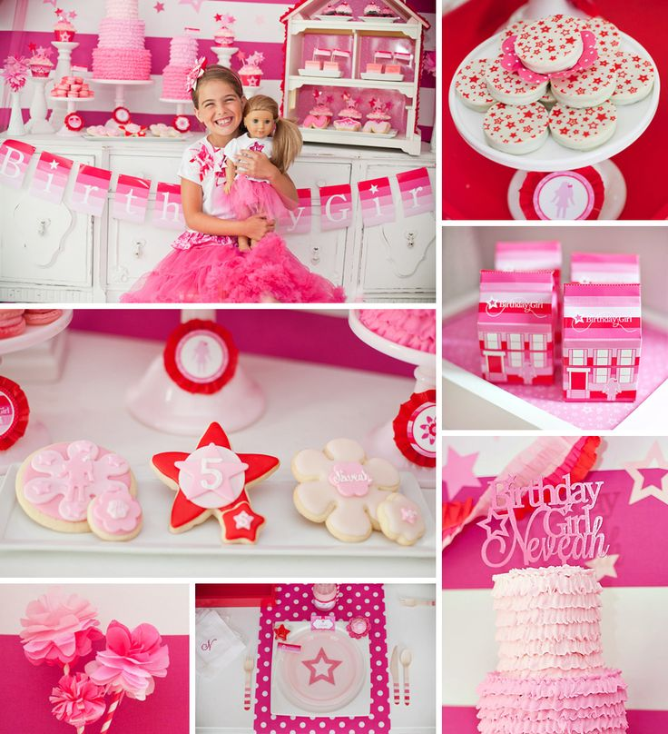 American Girl Doll Inspired Party {Pink & Ombre!} from Anders Ruff Custom Designs + a lineup of TALENTED vendors including Becca Bond Photography, Got What It Cakes and Madyson's Marshmallows! ‪#‎AmericanGirl‬ http://hwtm.me/166Mwnn