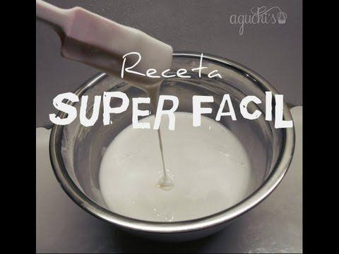 FACIL, COMO HACER GLASE REAL- EASY,HOW TO MAKE GLAZE