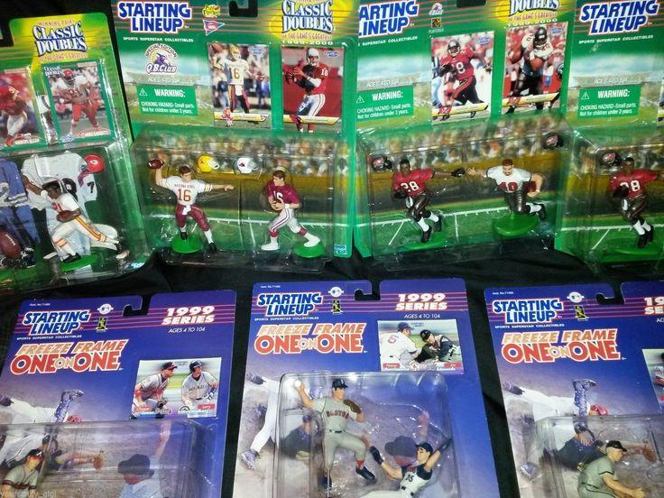 Starting Line Up Kenner 1999 Sports Figures Football Baseball Cards New | eBay