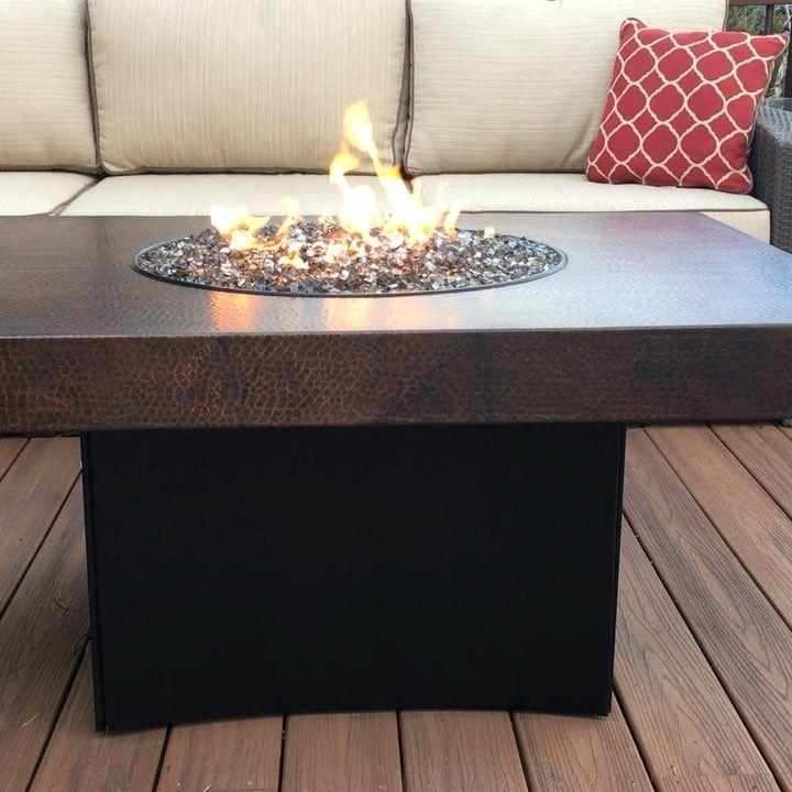 Www Allbackyardfun Com On Instagram Copper Oriflamme Fire Table