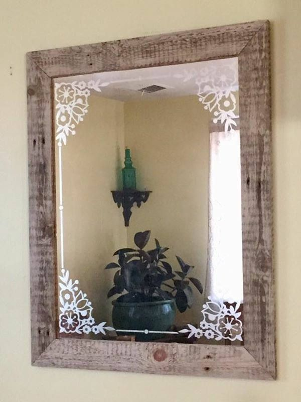 Pin By Hayley Remis On Farmhouse Designs Etched Mirror
