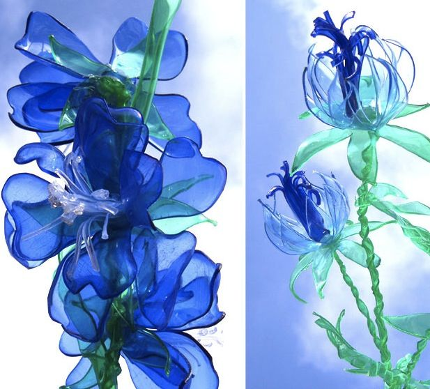 With nimble fingers and a little practice, you can turn plastic bottles into flowers like these! Learn how with a video tutorial at Upcycle That.