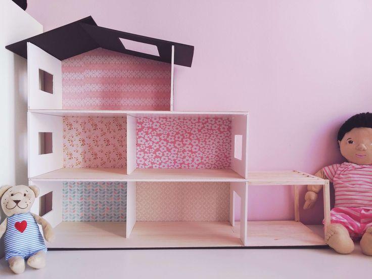 DIY dollhouse - DIY κουκλόσπιτο - VioletMimosa.com