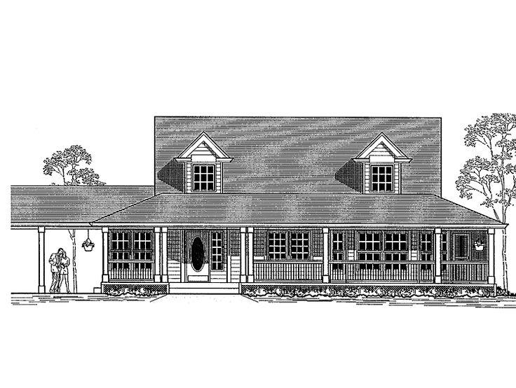 Eplans Farmhouse House Plan Two Bedroom Farmhouse 1789