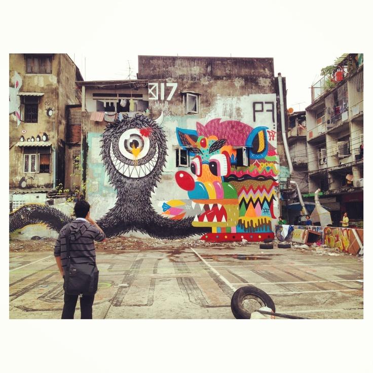Street art in BKK, Thailand MAMAFAKA. #mamafaka http://www.widewalls.ch/artist/mamafaka/