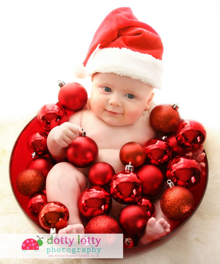 4 month old baby at Christmas - photography