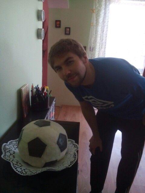 Fotbalový balon - socker ball cake