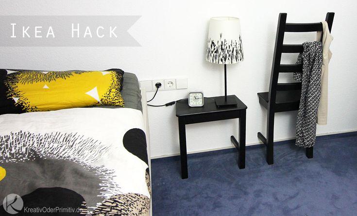 Ikea Hack Herrendiener Kleider Kleiderständer Stuhl auseinandersägen Kaustby Holzstuhl Schlafzimmer DIY Anleitung selber machen günstig