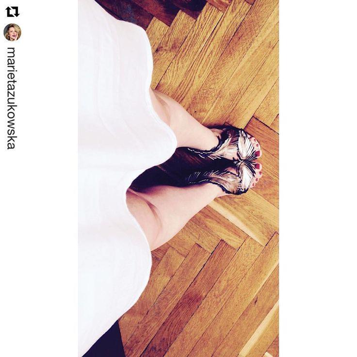 #Repost @marietazukowska  ・・・ I❤️ @baldowskiwb #na #gale #gentlewoman #ubrałam #je#kocham#te#buty#są#jak#biżuteria❤️#actress #marietazukowska #marieta #shoes