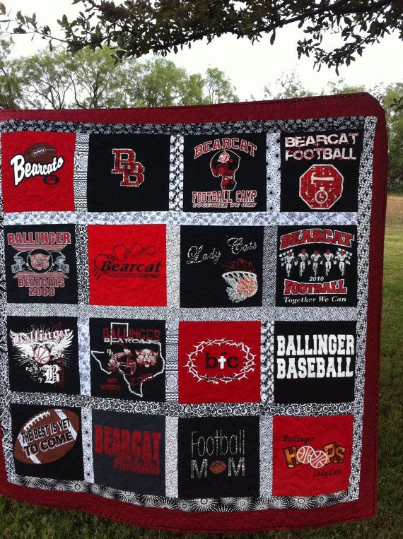 "T-shirt Memory quilt made from your 20 tshirts, lap size quilt approximately 63"" x 73"" on Etsy, $225.00"