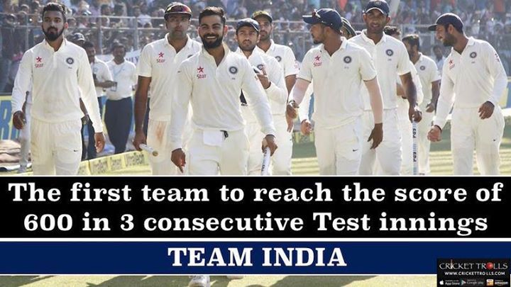 #TeamIndia #INDvBAN Indian Cricket Team creates another Test record :) For more cricket fun click: http://ift.tt/2gY9BIZ - http://ift.tt/1ZZ3e4d