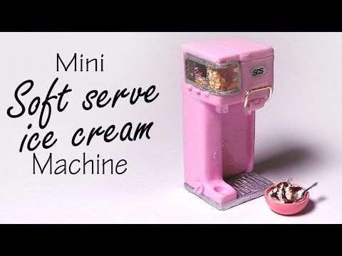 Miniature Soft Serve Ice Cream Machine - Polymer Clay Tutorial - YouTube