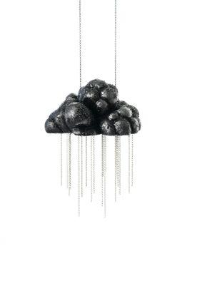 Michelle Kraemer  CumulusNimbus II / necklace / balsa wood, silver  - BLACK ENVY !