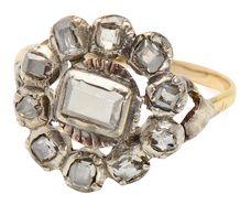 Georgian 18th C. Table Cut Diamond Ring