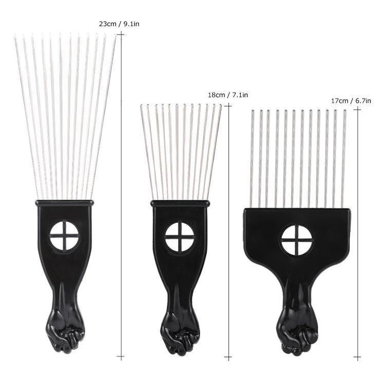 Anself 3Pcs Metal Afro Comb African American Pick Comb Hair Brush Hairdressing Styling Tool *** Find out more at the image link. #haircolor