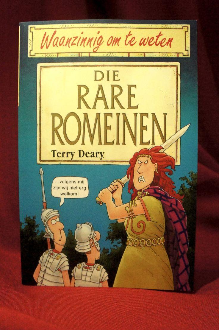 Die rare Romeinen staat vol waanzinnige feiten over een stoer volk dat zo'n 2000 jaar geleden in het grootste deel van Europa de baas was. Het waren de Romeinen. Maak kennis met hun krankzinnige keizers, strenge straffen en vreemde (vr)eetgewoontes. ~ Wil je dit boek graag hebben? Ga eens langs bij de Museumshop van het RMO!