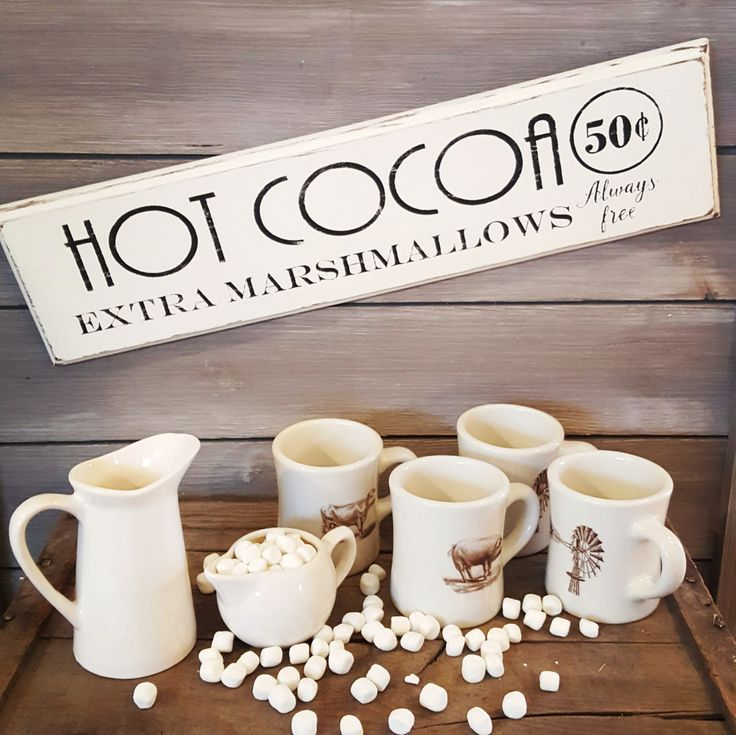 Hot Cocoa wood sign by KalaKleinDesigns on Etsy