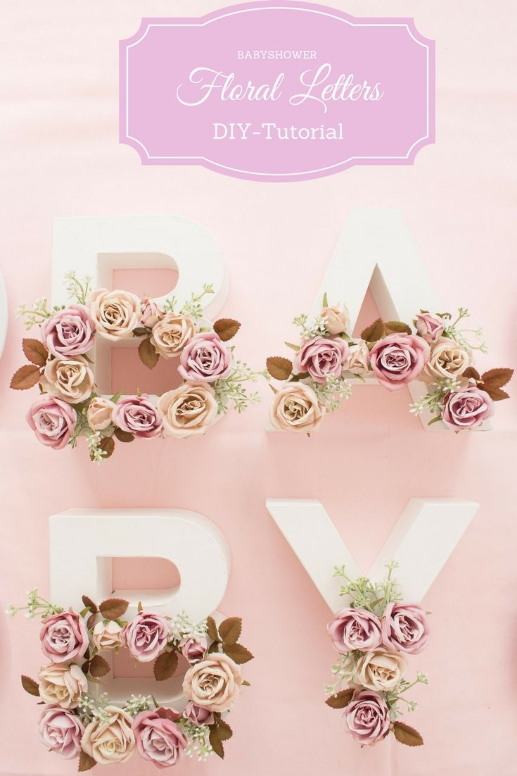 Georgeous DIY decorations with step-by-step tutorial for a babyshower party by Decorize