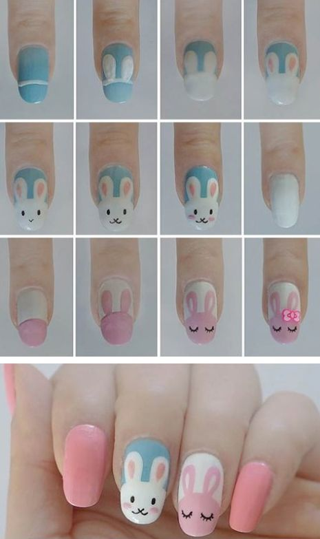Easter+Bunny+Nail+Art+Tutorial