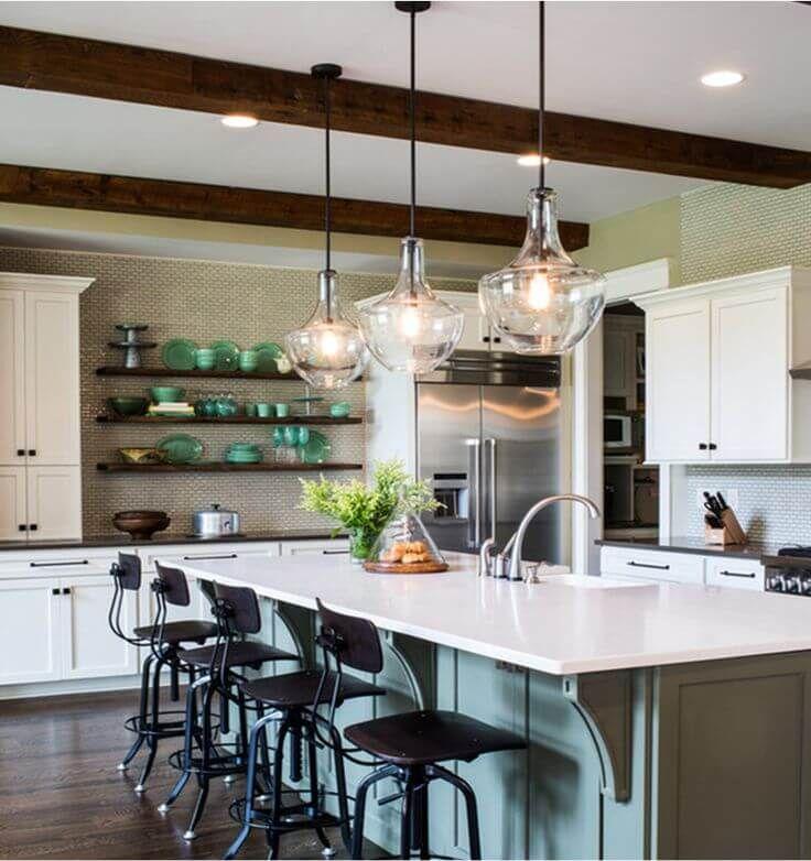 15 Chic Kitchen Island Lighting Ideas With Images Modern Kitchen Interior Design Kitchen