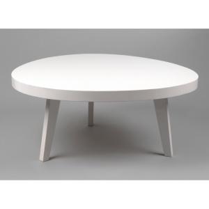 Table basse design Amadeus blanc laqué