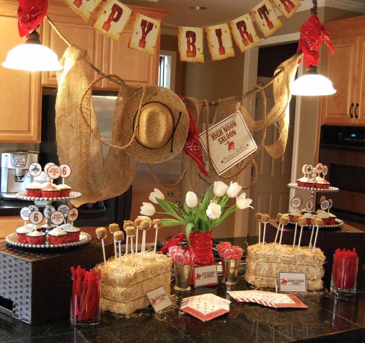 Western Decor For Birthday: Dessert & Candy Table: Ideas • Decor