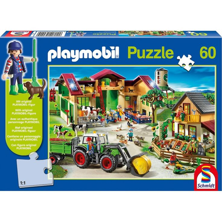 Günstig online entdecken: Auf dem Bauernhof 60 Teile Kinderpuzzle Playmobil mit Figur von Schmidt Spiele bei Spielzeug.World!