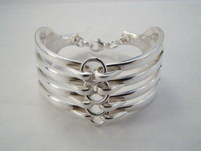 How to make Spoon Rings and Bracelets | forkjewelery-linked-fork-bracelet