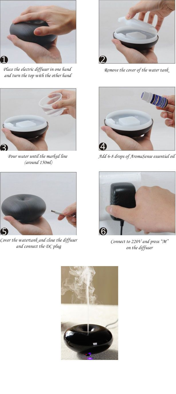 Electric essential oil diffuser instructions