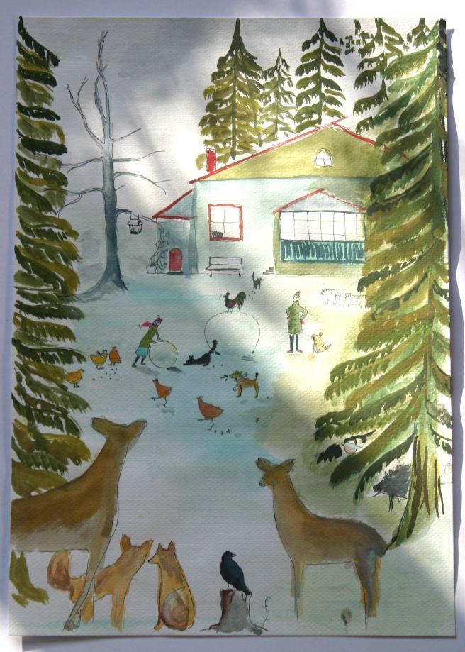 #illustration #winter #dreamhouse #myworks