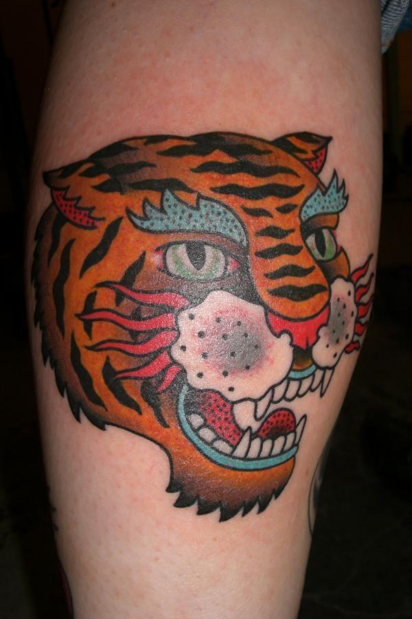 traditional tiger tatt...