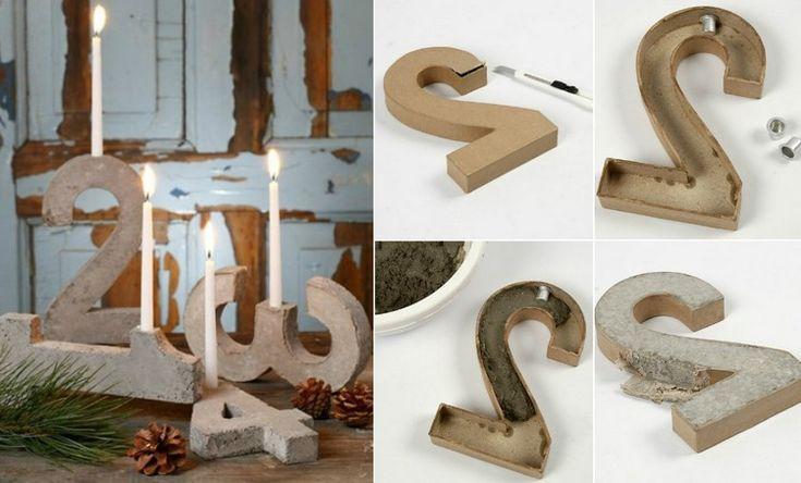 innovativen adventskranz aus betonziffern selber machen. Black Bedroom Furniture Sets. Home Design Ideas